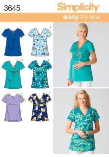 Maternity or Regular Scrubs Uniform Simplicity Sewing Pattern 3645