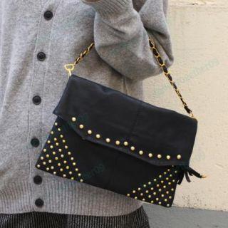 PU Leather Rivet Handbag Evening Bag Clutch Satchel B024