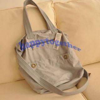 New Canvas Satchel Handbag Tote Travel Cross Body Drawstring Sling Bag
