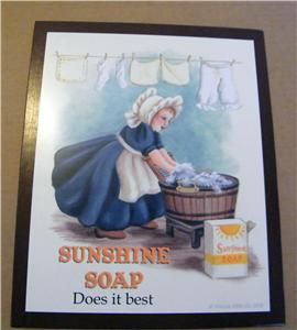 Laundry Room Sunshine Soap Retro Country Sign C Store 4 Primitive