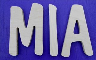10 Size Unpainted Nursery Wood Wall Letters Wooden Name Child Baby $6