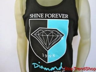 Diamond Supply Co Shine Forever 1998 Tank Top Mens Skate Black XL $30