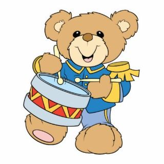 Cute Drummer Teddy Bear Photo Cut Outs