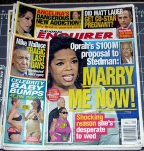 Enquirer Magazine April 23 2012 Oprah Stedman Angie Matt Lauer