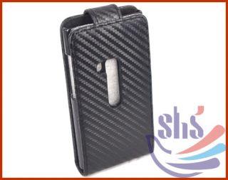 Black Matt Flip Leather Pouch Case Back Cover Skin for Nokia N9