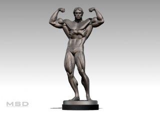 Arnold Schwarzenegger Bodybuilding Statue Faux Bronze Pumping Iron not