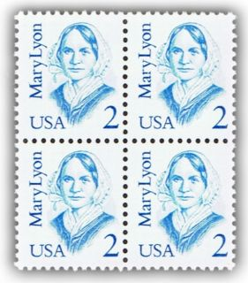 MARY LYON ON U.S. POSTAGE STAMPS