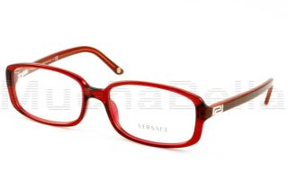 Versace Eyeglass Frames ve 3132 H 388 Red w White Temple Authentic