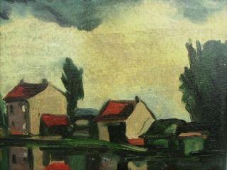 1920s French Impressionist Oil Attr Maurice de Vlaminck