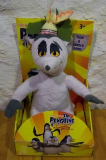 Madagascar Talking King Julien Plush Stuffed Animal New