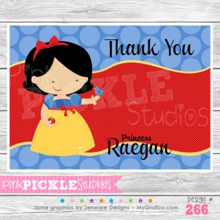 Personalized Birthday Party Invitation or Thank You Card 266