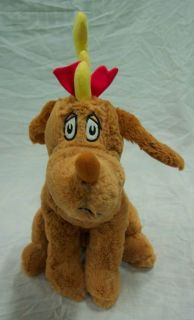 Kohls Dr. Seuss Grinch MAX THE DOG W/ ANTLER 15 Plush STUFFED ANIMAL