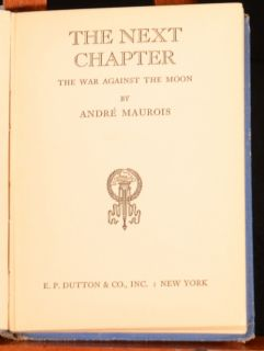 Chapter The War Against The Moon by Andre Maurois First Edition