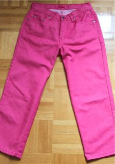 Mavi Cropped Jeans Jenny Denim Pedal Pusher Hot Pink 27 Free Shipping