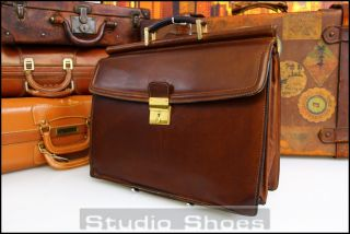 Bally Italy Vintage Leather Case Briefcase Laptop Attache Mens Bag