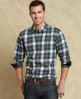 Tommy Hilfiger Shirt, Mini Baker Plaid Shirt   Mens Casual Shirts