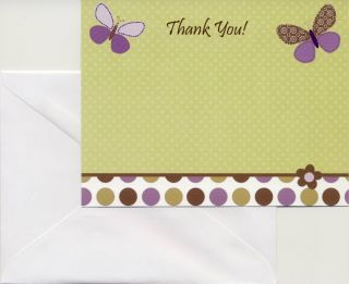 These adorable baby shower thank you cards match the Carters Garden