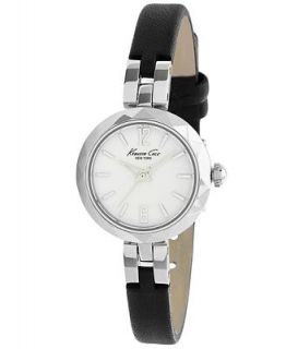 Kenneth Cole New York Watch, Womens Black Leather Strap 28mm KC2644