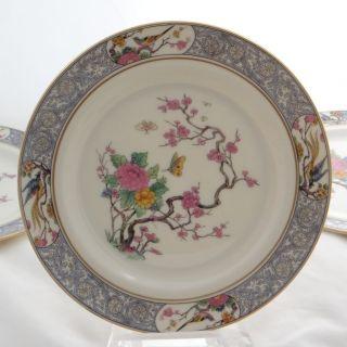 Lenox Chinese Ming China Salad Plate Birds Gold Rim Border Butterflies