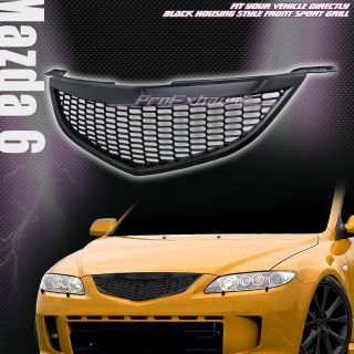 SPORT MESH FRONT BUMPER HOOD GRILL GRILLE ABS 2003 2005 MAZDA 6 MAZDA6