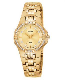 Pulsar Watch, Womens Gold Tone Stainless Steel Bracelet PTC390