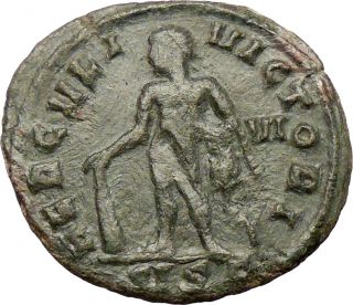 Maximian 285AD Huge Ancient Roman Coin Nude Hercules Possibly