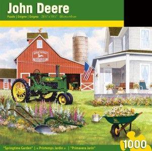 Masterpieces John Deere Springtime Garden Tractor Jigsaw Puzzle   1000