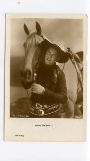 RPPC Ken Maynard Postcard Famous Cowboy Western Movie Star Actor Horse