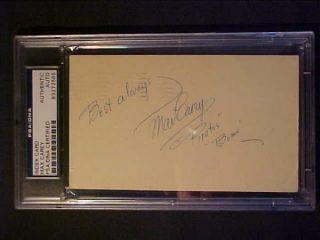 Max Carey D 1976 1953 Signed GPC PSA DNA Pirates Bums Slabbed