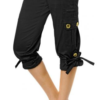 Mariah Carey Cropped Cargo Pants Blk 16