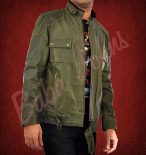 Wanted Wesley Gibson McAvoy Olive Green Faded Mens Vintage Leather