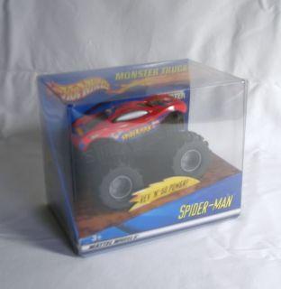 Marvel Hot Wheels Spiderman Monster Truck New in Box Toy Car Rev N Go