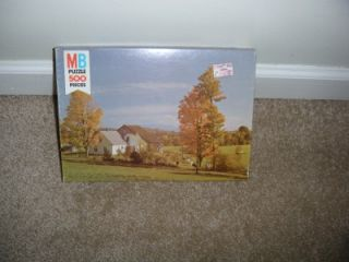 MB Milton Bradley Jigsaw Picture Puzzle 500 Piece Croxley Series