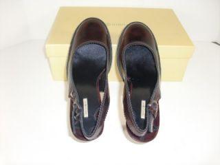 Maxstudio Carmel 8 5 M Black Red Slingbacks Pumps Heels Womens Shoes