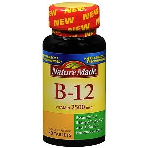 Nature Made Vitamin B 12 2500 mcg 60 Tablets Dietary Supplement