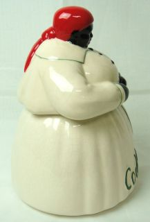McCoy Black Americana Lucky Mammy Shamrock Cookie Jar Cream White