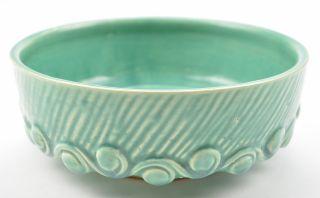 McCoy Art Pottery Aqua Teal Green Bowl Collectible Vintage Planter