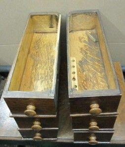 Vintage McCaskill Treadle Sewing Machine Cabinet Nice Oak Drawers