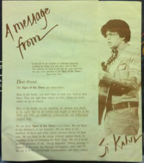John McCutcheon SI Kahn Signs of The Times LP Mint 86 w Insert Press