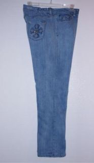 Reba Reba McEntire Studded Cross Pocket Stretch Jeans 22W