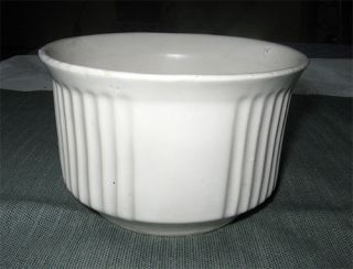 McCoy Pottery Matte White Round Flower Bowl Floraline 540