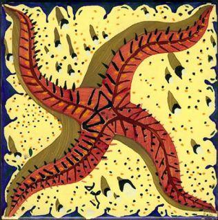 Salvador Dali Ceramic Tiles Complete Set/6. Signed & Stamped Salvador
