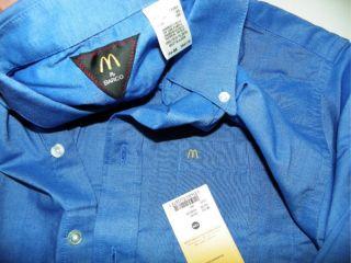 McDonalds Uniform Button Up Short Sleeve Shirt XL x Large Cotton Poly