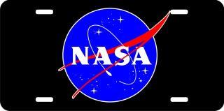 NASA Meatball Logo License Plate