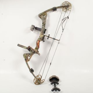 McPherson Edge Vib X RH Compound Bow 29 70# Quiver+Dusk Devil+Trophy