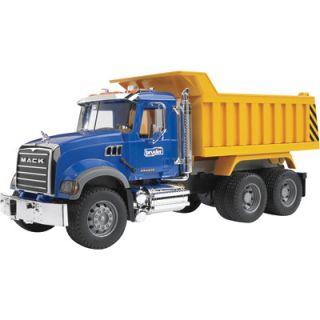 the bruder mack granite dump truck will turns normal truck