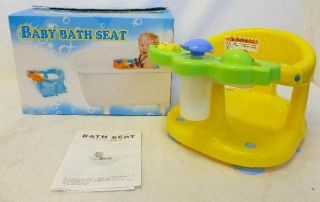 Dream on Me Baby Bath Seat Yellow Ages 6 to 24 Months