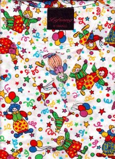 Medical Nurse Scrubs Print Top Clown XS s M L XL 2X 3X