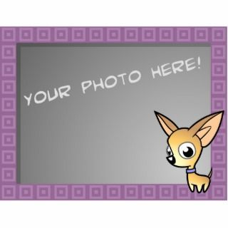 Cartoon Chihuahua Photo Frame (fawn) Cut Out