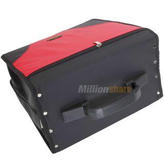 520 Disc CD DVD Holder Storage DJ Wallet R Media Case Matte Red Black